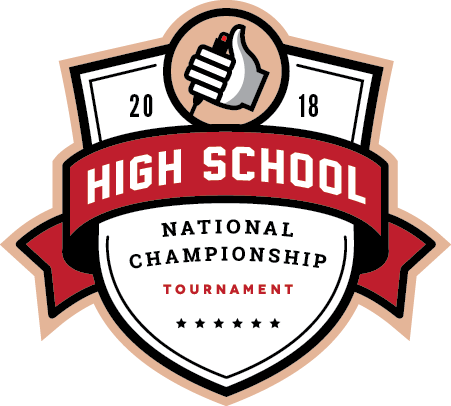 Logo for the 2018 High School National Championship Tournament