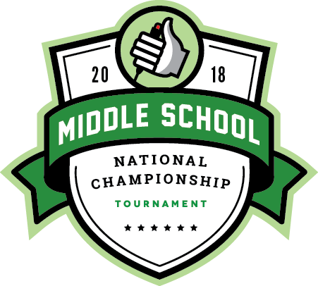 Logo for the 2018 Middle School National Championship Tournament
