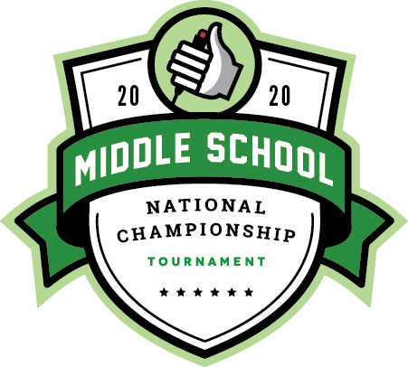 Logo for the 2020 Middle School National Championship Tournament